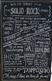 Chalkboard Love And Hope Anchors - christ alone cornerstone weak made strong in the savior s love