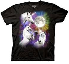 amazon com three wolf moon shirt three rainbow unicorn