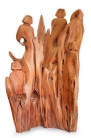 abstract wood sculpture abstract wood sculpture mountain celebration novica