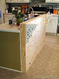 adding an island to an existing kitchen add a breakfast bar to an existing kitchen island sawdust and