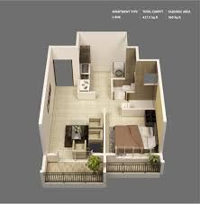 Small Homes Designs by 1 Bedroom Apartment House Plans