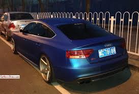matte audi s5 audi s5 sportback is matte blue in china carnewschina com