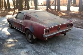 gt mustang 1967 1967 ford mustang 390 gt fastback barn find rod
