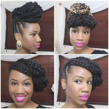 marley hairstyles braided updo on natural hair using marley hair kyss my hair with