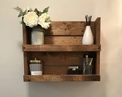 Wooden Shelves For Bathroom Rustic White Distressed Wood Bathroom Shelf Farmhouse Decor