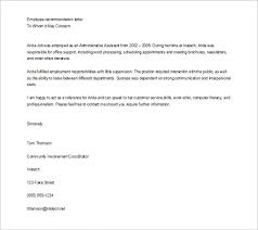 best ideas of format of a job recommendation letter for your