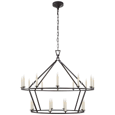 Chandelier Canopy by Darlana Large Two Tiered Ring Chandelier Height 33