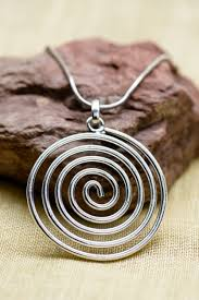 silver necklace from india images Spiral necklace made by fair trade artisans in india jpg