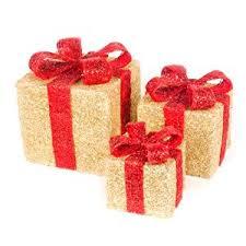 set of 3 sisal light up gift boxes co uk