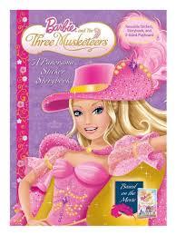 barbie musketeers panorama stickerbook barbie