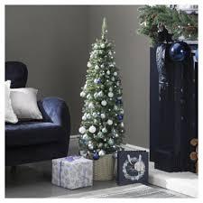 buy 4ft pre lit slim pre decorated tree 50 white leds