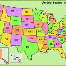 map usa states abbreviations united states map with state abbreviations free geography