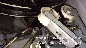 bosch dryer belt placement youtube