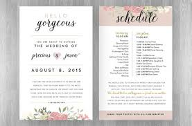 wedding reception program template wedding reception programme ideas wally designs