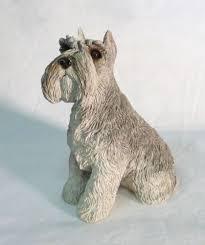 vintage sandcast schnauzer dog figurine 1995 m161 collectible home