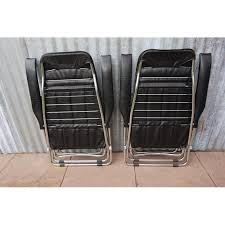 Metal Reclining Garden Chairs Pair Of Italian Folding And Reclining Garden Chairs From Maule