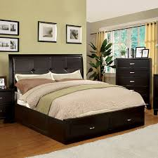 Cal King Platform Bed Frame Shop Furniture Of America Enrico Espresso California King Platform