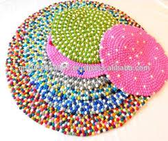 Nepal Felt Ball Rug Felt Ball Rug Handmade In Nepal 100 Pure New Zealand Wool Rugs