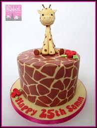 giraffe cake giraffe print cake with sugarpaste giraffe by bibbidi cake co