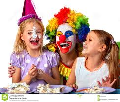 two cheerful clowns birthday children bright stock photo royalty clown stock photos royalty free stock images