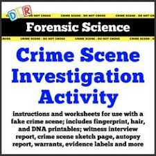forensic science crime scene printables information pages