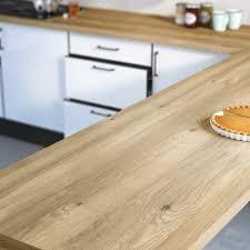 plan de travail cuisine sur mesure stratifié plan de travail stratifié effet chêne boréal mat l 300 x p 65 cm