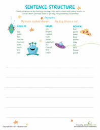 ideas collection simple sentence construction worksheets for your