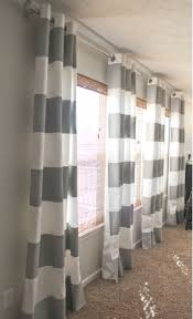 Grey And White Kitchen Curtains by Best 10 Long Window Curtains Ideas On Pinterest Kitchen Window