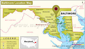 map us baltimore where is baltimore located in maryland usa