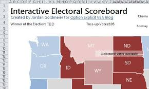 us map states excel interactive united states 2012 presidential scoreboard in excel