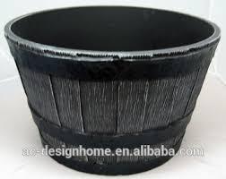 small black wood round stackable polyurethane foam whisky barrel