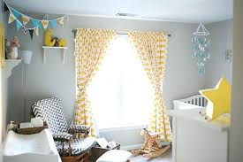 Yellow Curtains Nursery Nursery Curtains Patterned Yellow And White Blackout Curtains
