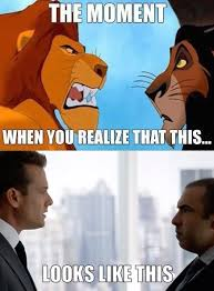 Mufasa Meme - mufasa and scar vs harvey and louis of suits by colonel knight