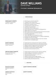 quantity surveyor cv examples and template