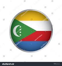 Comoros Flag Flag Comoros Round Icon Stock Vector 787251937 Shutterstock