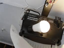 led light bulb in garage