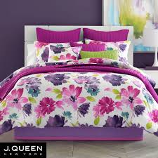 Colorful Queen Comforter Sets Midori Fuchsia Floral Comforter Bedding From J By J Queen New York