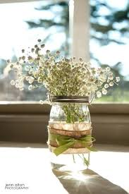 jar table decorations centerpieces with burlap bazaraurorita