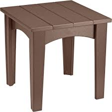 Amish End Tables by Luxcraft Island End Table Amish Yard