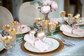 Elegant Christmas Table Setting With Pink And Gold - Design a table setting