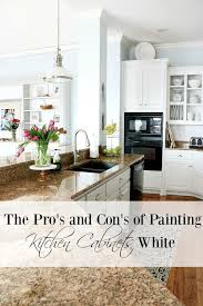 Kitchen Ideas With White Cabinets Pros And Cons Of Painting Kitchen Cabinets White Duke Manor Farm