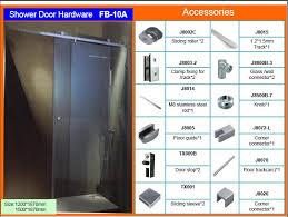 Glass Shower Door Stop Frameless Glass Bypass Sliding Shower Door Hardware Partition