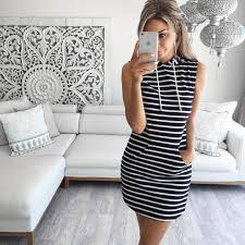 black and white dresses striped black and white casual dress