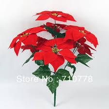 poinsettia artificial flowers chuck nicklin