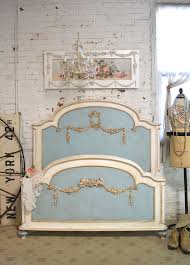 Shabby Chic Twin Bed french bed painted cottage shabby chic romantic full twin bed