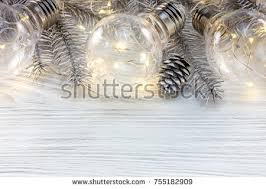 glowing light l decorations silver stock photo