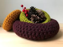 set of three crochet nesting baskets home decor baskets home