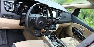 Interior Kia Sedona 2015 Kia Sedona Review The Automotive Review
