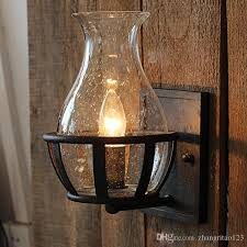 country style outdoor lighting 2018 american country style loft iron glass wall l retro