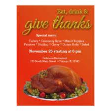 thanksgiving flyers programs zazzle
